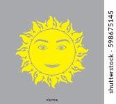 greek sun god logotype | Shutterstock .eps vector #598675145