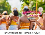 group of beautiful balinese... | Shutterstock . vector #598677224