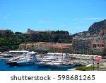 la condamine  monaco   june 20  ... | Shutterstock . vector #598681265