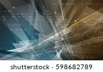 abstract futuristic fade... | Shutterstock .eps vector #598682789