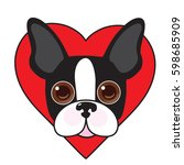 a cute illustration of a boston ...   Shutterstock .eps vector #598685909