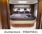 interior of luxury caravan....   Shutterstock . vector #598695821