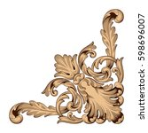 ornament in baroque style | Shutterstock .eps vector #598696007