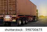 container truck on road | Shutterstock . vector #598700675
