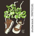 vector freestyle illustration... | Shutterstock .eps vector #598702181