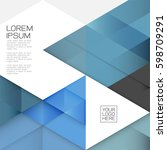 modern layout template with... | Shutterstock .eps vector #598709291