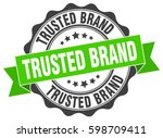 trusted brand. stamp. sticker.... | Shutterstock .eps vector #598709411