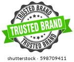 trusted brand. stamp. sticker.... | Shutterstock .eps vector #598709411