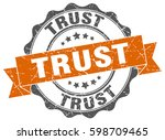 trust. stamp. sticker. seal....   Shutterstock .eps vector #598709465