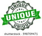 unique. stamp. sticker. seal.... | Shutterstock .eps vector #598709471