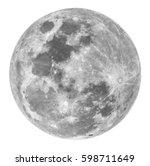 Full Moon A White Background - Fine Art prints