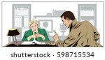 stock illustration. people in... | Shutterstock .eps vector #598715534