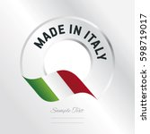 made in italy transparent logo... | Shutterstock .eps vector #598719017