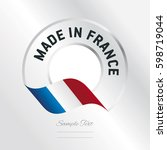 made in france transparent logo ... | Shutterstock .eps vector #598719044