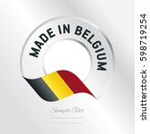 made in belgium transparent... | Shutterstock .eps vector #598719254