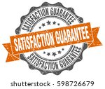 satisfaction guarantee. stamp.... | Shutterstock .eps vector #598726679