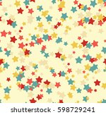 seamless vector pattern with... | Shutterstock .eps vector #598729241