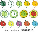 colorful leafs leaves | Shutterstock .eps vector #59873113