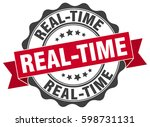 real time. stamp. sticker. seal.... | Shutterstock .eps vector #598731131