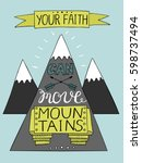 hand lettering your faith can... | Shutterstock .eps vector #598737494