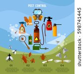 pest control service... | Shutterstock .eps vector #598741445