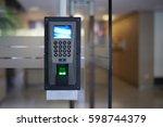 door electronic access control... | Shutterstock . vector #598744379