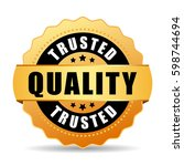 trusted quality gold vector eps ... | Shutterstock .eps vector #598744694