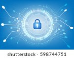 security  with lock and... | Shutterstock .eps vector #598744751