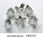 assorted cookie cutters on... | Shutterstock . vector #598747