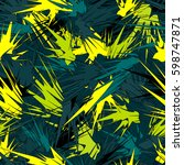 tropical seamless pattern with... | Shutterstock .eps vector #598747871