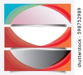 amazing full color background... | Shutterstock .eps vector #598752989
