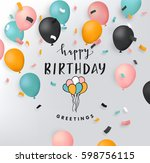 happy birthday illustration | Shutterstock .eps vector #598756115