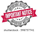 important notice. stamp.... | Shutterstock .eps vector #598757741