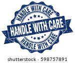handle with care. stamp.... | Shutterstock .eps vector #598757891