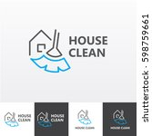 house cleaning services vector... | Shutterstock .eps vector #598759661
