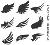 angel wings flat design
