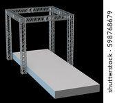 steel truss girder rooftop... | Shutterstock . vector #598768679