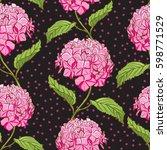 seamless vintage floral pattern ... | Shutterstock .eps vector #598771529