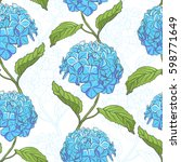 seamless vintage floral pattern ... | Shutterstock .eps vector #598771649