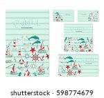 set of  template corporate... | Shutterstock . vector #598774679