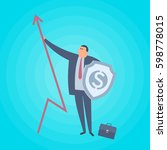 businessman with increase arrow ... | Shutterstock .eps vector #598778015