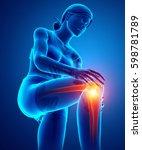 3d illustration of women knee...   Shutterstock . vector #598781789