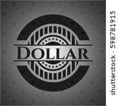 dollar black badge | Shutterstock .eps vector #598781915