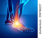 3d illustration of male foot... | Shutterstock . vector #598788257