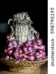 Small photo of Shallot. (Allium ascalonicum L.), including shallots from Sisaket Province. Thailand.