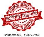 disruptive innovation. stamp.... | Shutterstock .eps vector #598793951