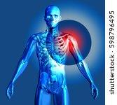 3d render of a medical image... | Shutterstock . vector #598796495