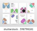 memphis geometric background... | Shutterstock .eps vector #598798181