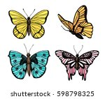 hand drawn vector illustration  ... | Shutterstock .eps vector #598798325