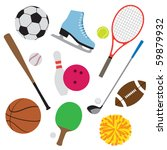 vector illustration of sport... | Shutterstock .eps vector #59879932